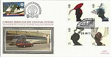 2001 Hats Benham Channel official Tunnel FDC with £1 Railway letter stamp & Historic Channel Tunnel postmark. Carried through the tunnel with special cachet. Good condition