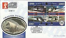 2001 10th Ann North Tunnel Breakthrough Benham Channel official Tunnel FDC with Railway letter stamp & Historic Channel Tunnel postmark. Carried through the tunnel with special cachet. Good condition