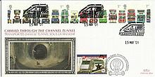 2001 Buses Benham Channel official Tunnel FDC with £1 Railway letter stamp & Historic Channel Tunnel postmark. Carried through the tunnel with special cachet. Good condition