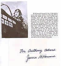 Signature of Brigadier-General James H. Howard Medal of Honor winner USAAF. Good condition