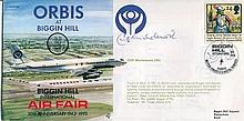 Cliff Michelmore: 1993 Biggin Hill International Air Fair cover signed by Cliff Michelmore who is best known for the BBC television programme Tonight, which he presented from 1957 to 1965. He also hosted the BBC's television coverage of the Apollo