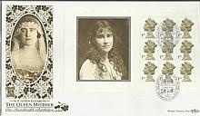 HM Queen Elizabeth the Queen Mother 100th Birthday Benham 22ct gold FDC with Hythe Kent postmark