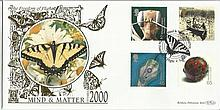 Mind & Matter September 2000 Benham 22ct gold FDC with Bristol postmark. Catalogues at £20+. Good condition