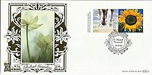Global Garden Benham 22ct gold FDC with St Austell postmark. Catalogues at £20+. Good condition
