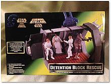 """Rare """"Star Wars: Detention Block Rescue"""" playset, released in 1996. Good condition"""