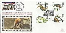 2001 Pond life Benham Channel Tunnel official FDC with £1 Railway letter stamp & Historic Channel Tunnel postmark. Carried through the tunnel with special cachet. Good condition
