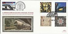 2000 Spirit & Faith Benham Channel official Tunnel FDC with £1 Railway letter stamp & Historic Channel Tunnel postmark. Carried through the tunnel with special cachet. Good condition