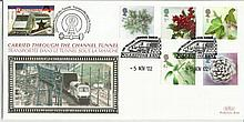 2002 Christmas Benham Channel official Tunnel FDC with £1 Railway letter stamp & Historic Channel Tunnel postmark. Carried through the tunnel with special cachet. Good condition