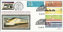 2002 Commonwealth Games Benham Channel official Tunnel FDC with £1 Railway letter stamp & Historic Channel Tunnel postmark. Carried through the tunnel with special cachet. Good condition