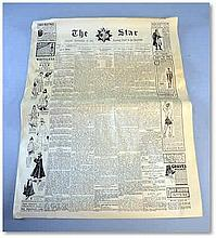 "A prop newspaper made for the film ""The Wolfman"" (2010 starring Anthony Hopkins Good condition"