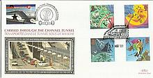 2001 Weather Benham Channel official Tunnel FDC with £1 Railway letter stamp & Historic Channel Tunnel postmark. Carried through the tunnel with special cachet. Good condition