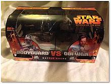"""Star Wars: Revenge of The Sith"" Bodyguard vs Obi-Wan Battle Arena set. Good condition"