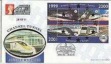 2001 5th Ann Tunnel Opening Benham Channel official Tunnel FDC with Railway letter stamp & Historic Channel Tunnel postmark. Carried through the tunnel with special cachet. Good condition