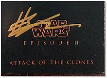 """""""Star Wars Episode II: Attack of The Clones booklet"""", signed on the front by Hayden Christensen (Anakin Skywalker Good condition"""