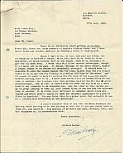 Richard Walker famous fisherman, selection of 4 very detailed signed letters addressed to Alan Coker regarding fly fishing. Died 1985 One of the first to apply scientific thought to angling, 'Dick' Walker wrote many books on the sport. He also wrote