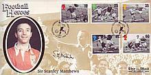 Sir Stanley Matthews: Benham Football heroes FDC signed by Sir Stanley Matthews