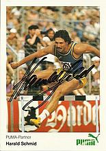 Harald Schmid signed colour promotional photo. Good condition