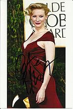 Cate Blanchett signed colour photo. Good condition
