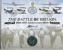 Signed Benham Official Coin FDC - Benham 60th anniversary of the Battle of