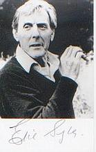 Eric Sykes. Postcard signed picture. Excellent.