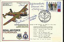 MRAF Arthur Harris, Gen Kammhuber Luftwaffe nightfighter pioneer signed RAF