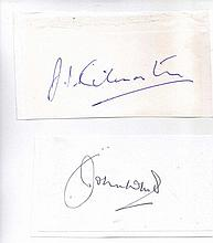 Two signatures of 'The Few' of the Battle of Britain. Wing Commander J.I. K