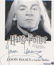 Harry Potter. A postcard sized signed picture of Jason Isaacs in character