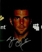Zachary Quinto signed 10 x 8 colour photo from Heroes. Good condition