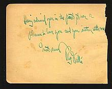 Rudy Vallée signed album page (July 28, 1901 - July 3, 1986) was an America