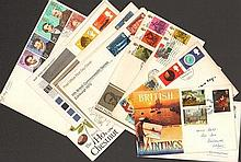 First day cover collection. 110 first day covers from 1960s - 1990s with ha