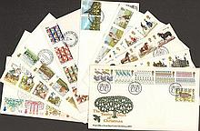 First day cover collection. 317 first day covers from the 1960s to the 1990