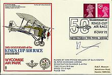 Prince William of Gloucester signed 1972 Kings Cup Air Race cover flown by