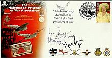 Vera Lynn, Ian Fraser VC & Earl Haig the former Colditz POW signed National