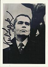 Karl Lagerfield signed b/w photo. Good condition
