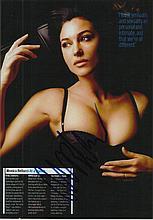 Monica Bellucci signed colour photo