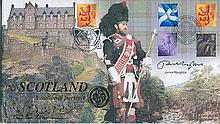 Signed Benham Official Coin FDC - Benham 'Scotland - A National Portrait' c