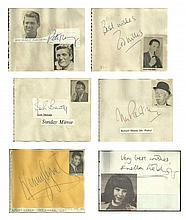 Vintage autograph collection 3 - Pete Murray signature piece fixed to Autog