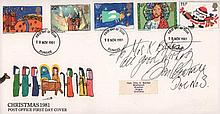 Jon Pertwee signed 1981 Christmas FDC inscribed to Mrs K Barton all good wi