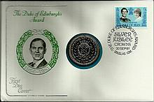 1981 Cotswold Covers Duke of Edinburgh's Award coin cover with Douglas IOM