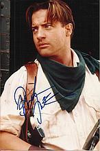 Brendan Fraser signed colour photo. Good condition