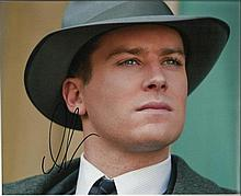 Armie Hammer signed colour 10x8 photo. Good condition