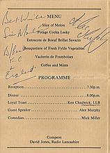 Stan Mortensen and Alex Murphy signed Sportsman dinner menu 18/4/88. Good c