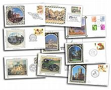 1982/1984 Benham Small Silk FDC collection. Each cover has a separate singl