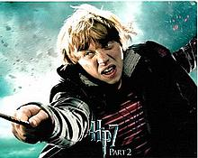 Rupert Grint 10x8 colour photo of Rupert from Harry Potter, signed by him i
