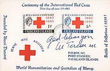 Mother Teresa MC signed 1965 Falklands Islands Centenary of the Internation