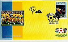 Pele signed Mexico 86 FDC. Good condition