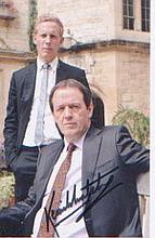 Morse. A signed p/c sized picture of Kevin Whately as 'Inspector Lewis.' Ex