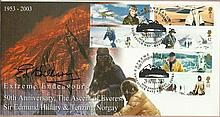 Edmund Hillary signed Scott FDC with Sherpa Tenzing 1st to reach summit of