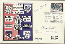 Raich Carter and Bobby Gurney signed Sunderland cover. Limited edition of 2