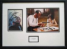 Jean Reno & Natalie Portman signed photos from Leon framed and mounted to a